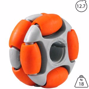 Picture of Rotacaster 48mm Double 65A Medium Polyurethane Roller 12.7mm Keyed Bore