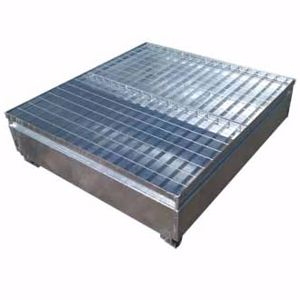 Picture of 4 Drum Bund - Galvanised Metal for 4 x 205 Litre
